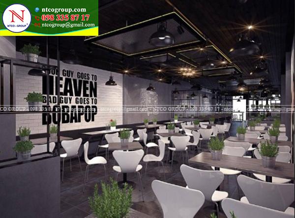 Thiết kế quán trà sữa Bobapop tại Vũng Tàu