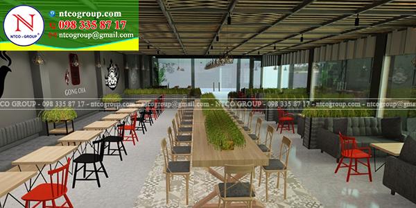 Tư vấn thiết kế quán trà sữa Gong Cha tại Vũng Tàu đẹp